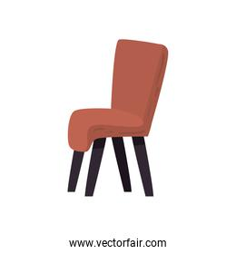 Isolated chair flat style icon vector design