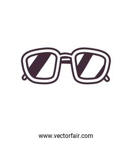 Isolated glasses line style icon vector design