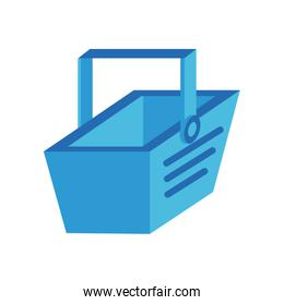 shopping basket commerce isometric style icon