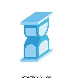 hourglass time isometric style icon