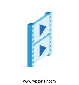 video tape isometric style icon
