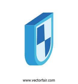 shield security isometric style icon