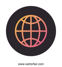 sphere browser globe block style icon