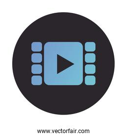 video tape block style icon