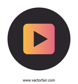 Video player button block style icon