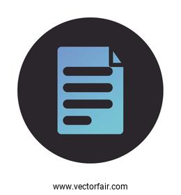 paper document file block style icon