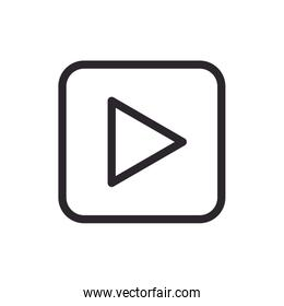 Video player button line style icon
