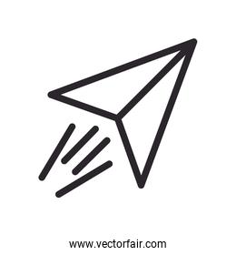 paper air plane line style icon