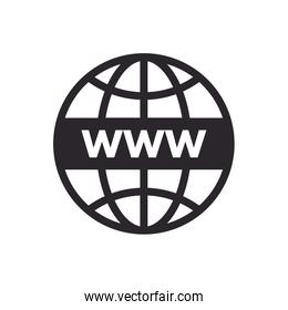 sphere browser globe line style icon