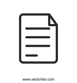 paper document file line style icon