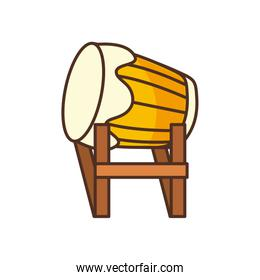Isolated drum fill style icon vector design
