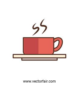 Isolated coffee mug fill style icon vector design