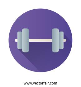 dumbbell gym block style icon