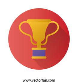trophy cup award block style icon