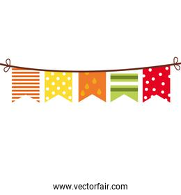 garlands party hanging decoration icon
