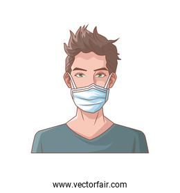 young man with mouth cap medical accessory