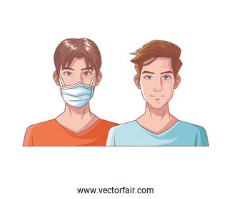 young men with mouth cap medical accessory