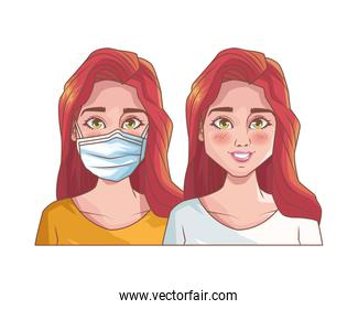 young girls with mouth cap medical accessory