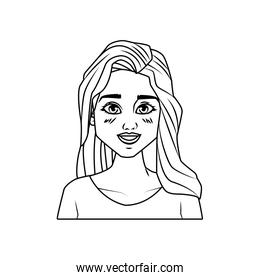 young woman female avatar character