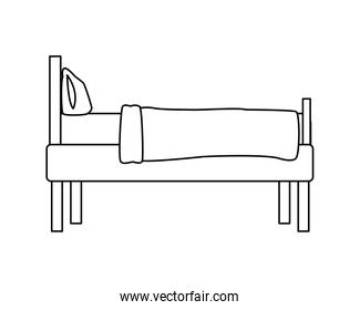 bed home forniture isolated design