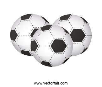 soccer balloons sports equipment icons