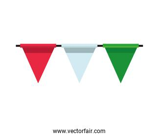 garlands party hanging isolated icon