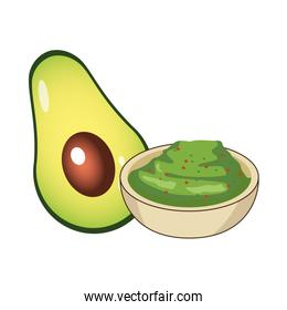 fresh avocado vegetable and guacamole sauce