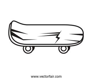 skateboard sport accessory isolated icon