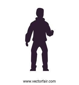 young man avatar character silhouette