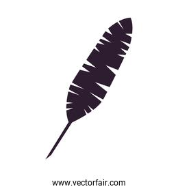 palm leaf tropical silhouette icon