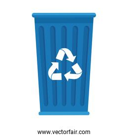 garbage recycle bin isolated icon