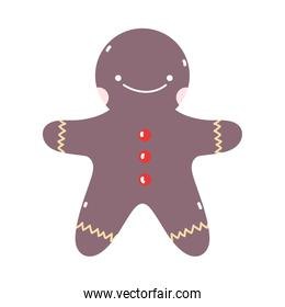 merry christmas gingerbread man biscuit decoration icon