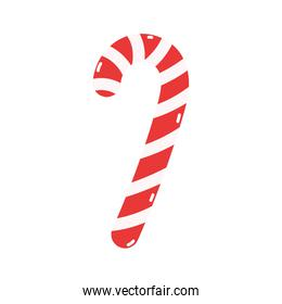 merry christmas candy cane peppermint decoration icon