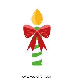 merry christmas candle gift bow decoration icon