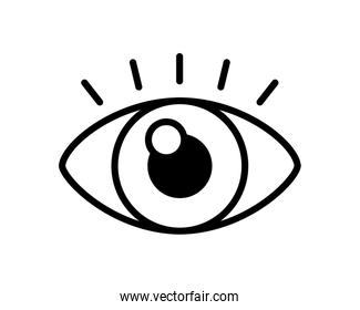 eye view line style icon