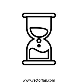 hourglass time linear icon