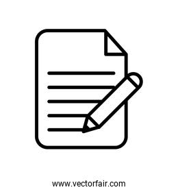 paper document with pen line style icon