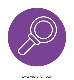 search magnifying glass block style icon
