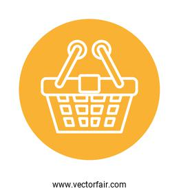 shopping basket commerce block style icon