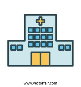hospital building fill style icon