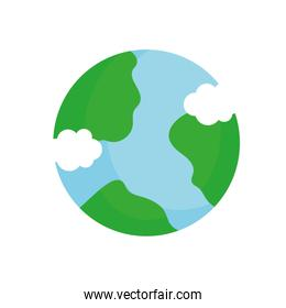 ecology renewable environment world icon