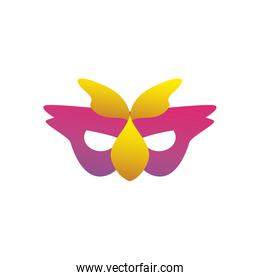 Party mask gradient style icon vector design