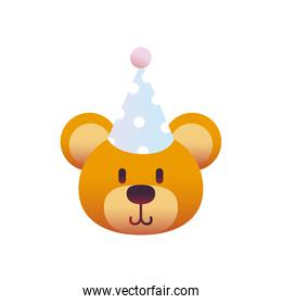 bear with party hat gradient style icon