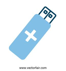 usb memory with cross health online half line style