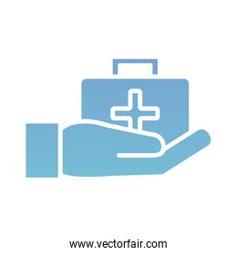 medical kit silhouette gradient style icon