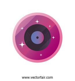 Isolated vinyl gradient style icon vector design