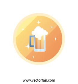 glass of beer gradient style icon vector design