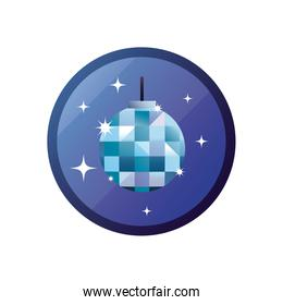Isolated disco sphere gradient style icon vector design