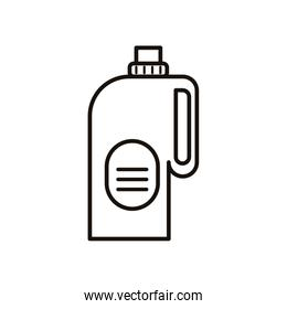 disinfectant plastic bottle product with drop line style