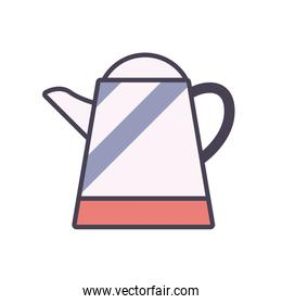 Isolated tea or coffee kettle line and fill style icon vector design